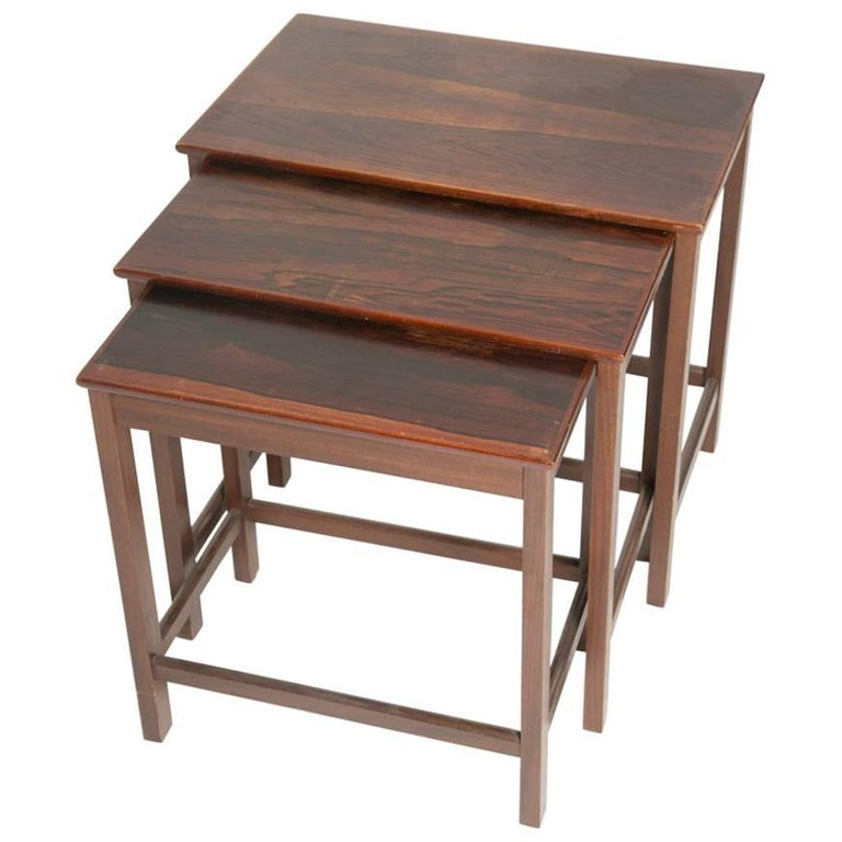 Danish Rosewood Nesting Tables For Sale