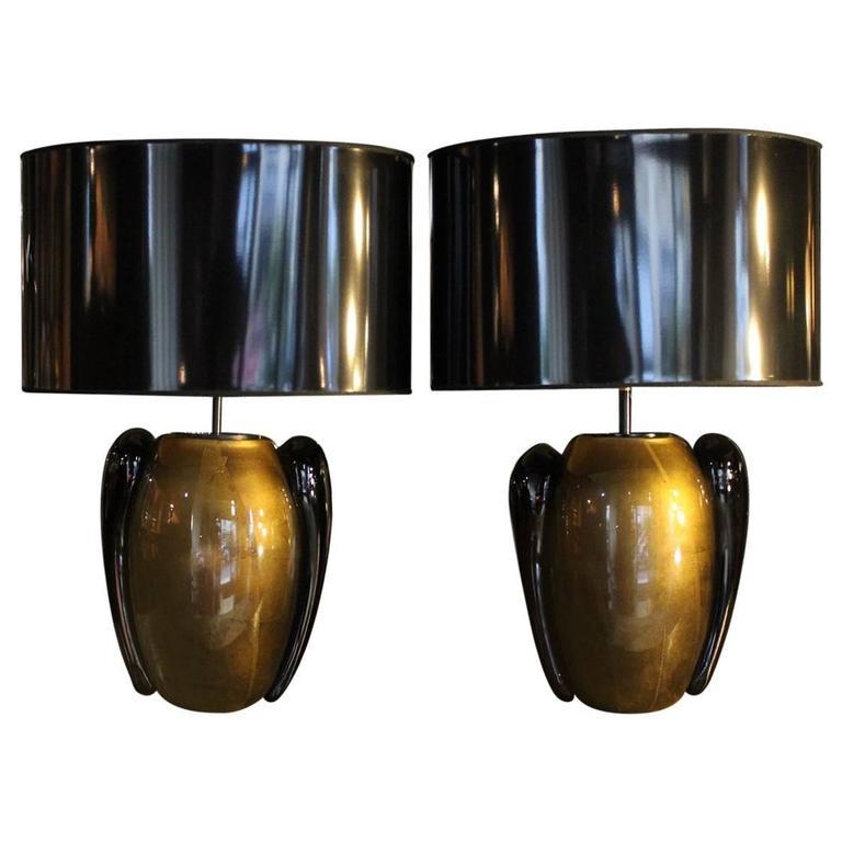 """""""Pino Signoretto"""" Murano Glass Table Lamps"""