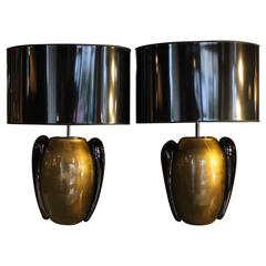 """Pino Signoretto"" Murano Glass Table Lamps"