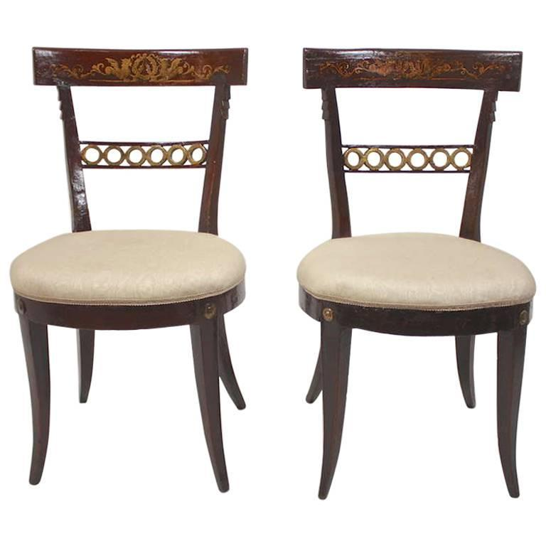 18th Century, Italian, Painted Side Chairs