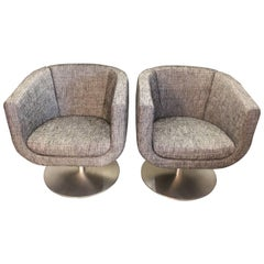 Jeffrey Bernett for B&B 1980s Swivel Armchairs