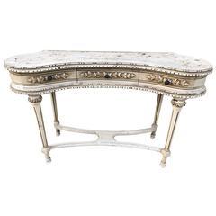 Antique, French, Vintage Dressing Table, Original Paint