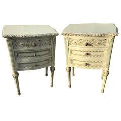 Pair of French Antique Bedside Tables
