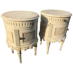 Pair of French Shabby Bedside Tables