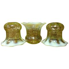 Set of Three Vaseline Shades