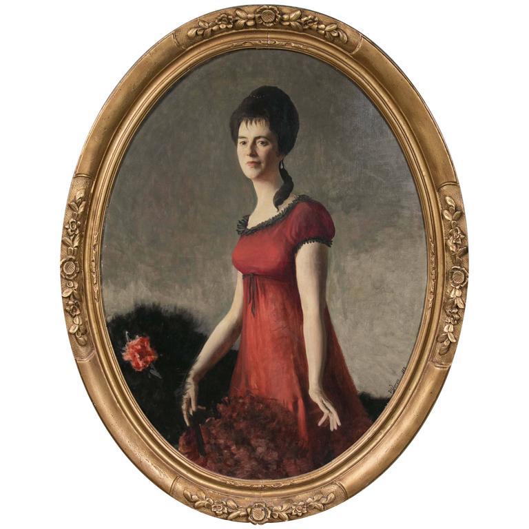 Oil on Canvas Large Portrait