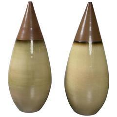 Pair of Large Italian Ceramic Vases