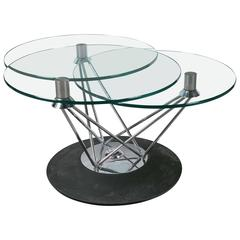 Tri-Glass Swival Coffee Table