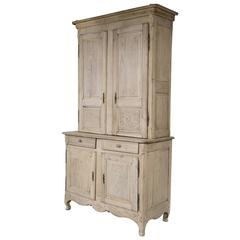 Bleached Oak French Cabinet