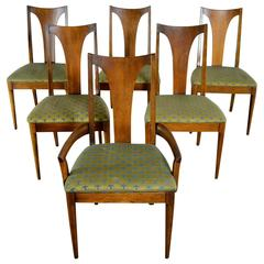 Mid-Century Modern Broyhill Brasilia 6140-84 & 85 Single Splat Dining Chairs