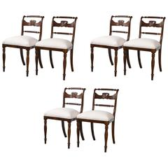 Set of Six Federal Dining Chairs