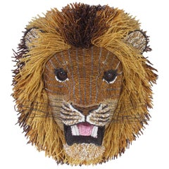 South African Beaded Lion Head