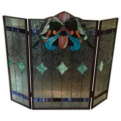 Stained Glass Fire Screen