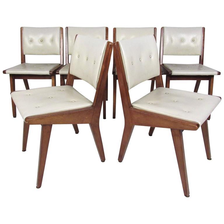 Set of mid century modern jens risom dining chairs at 1stdibs - Jens risom dining chairs ...