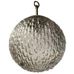 Mid-Century Modern Design Round / Globe Shape Glass Pendant Light