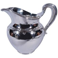 Tiffany Modern Sterling Silver Water Pitcher with Trefoils