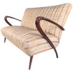 Italian Modern Two Seat Sofa, c. 1950s