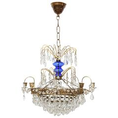 Antique Swedish Louis XVI style small scale chandelier  Mid 20th Century