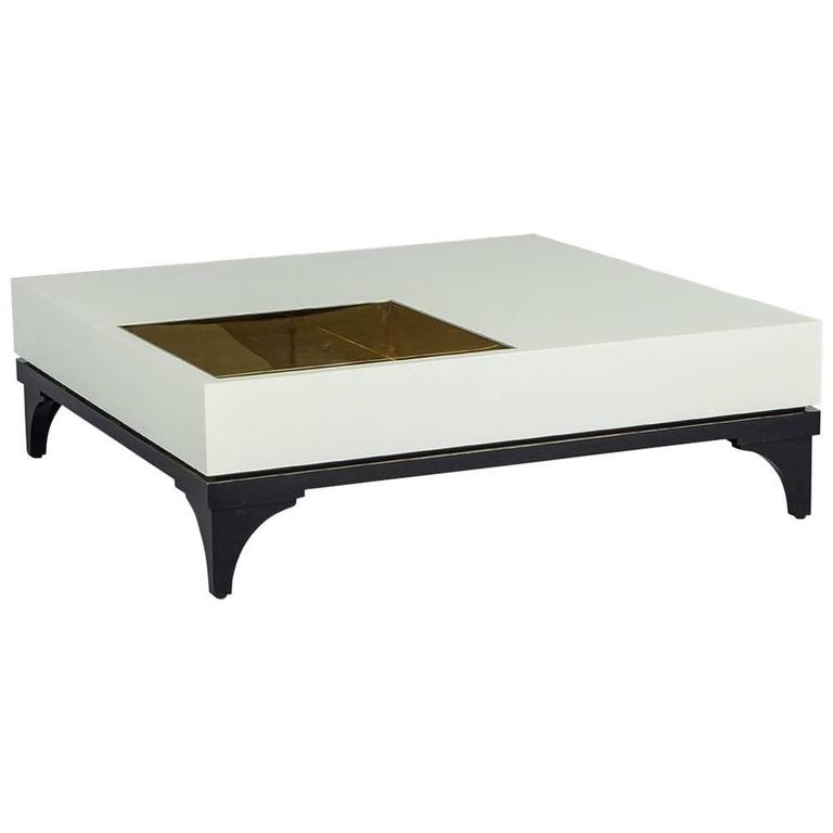 Downing Modern Off White Coffee Table For Sale At 1stdibs