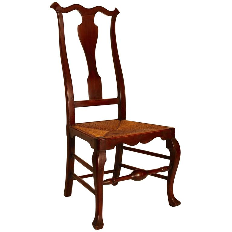 Maple Queen Anne Side Chair For Sale