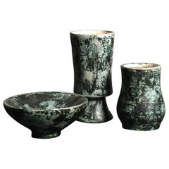 Set of Ceramic Vases by Jacques Blin