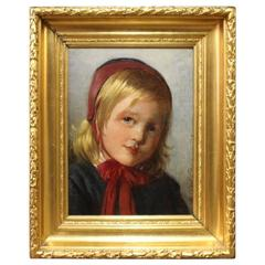 Antique Portrait Painting from 1891