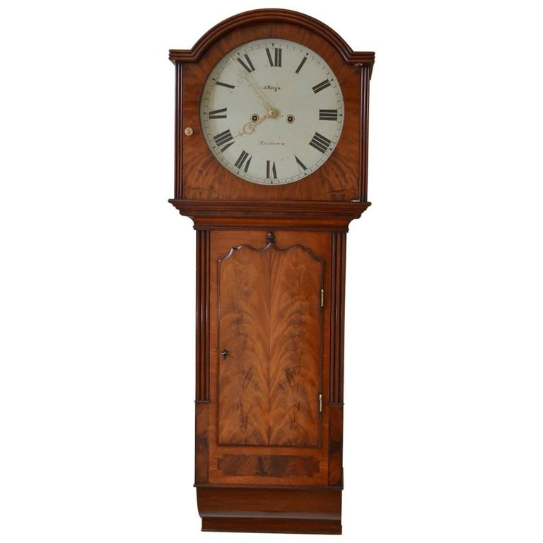 Fine and unusual george iii wall clock by a merga for Unusual clocks for sale
