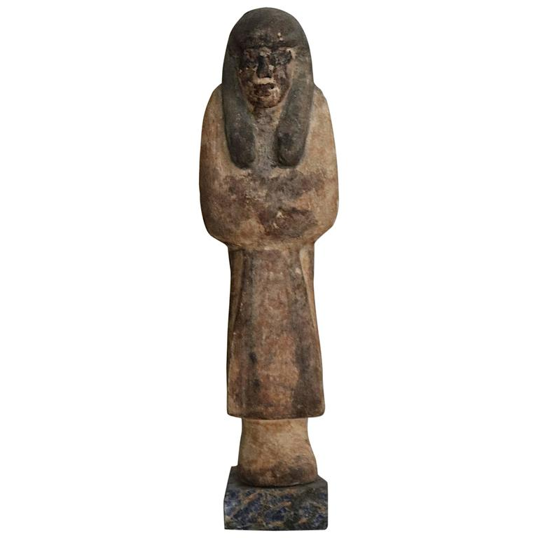 'Reis Ushabti' Wooden Figure from the Ancient Egypt