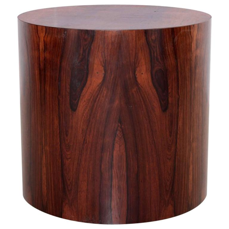 Milo Baughman Drum Or Side/End Table In Rosewood For Thayer Coggin 1