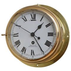 Brass Ship's Clock by Smith's Cricklewood