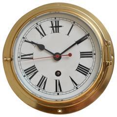 Rare Brass Ships Clock