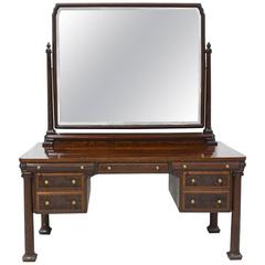 New York City Mahogany Belle Époque Vanity or Dressing Table, circa 1890