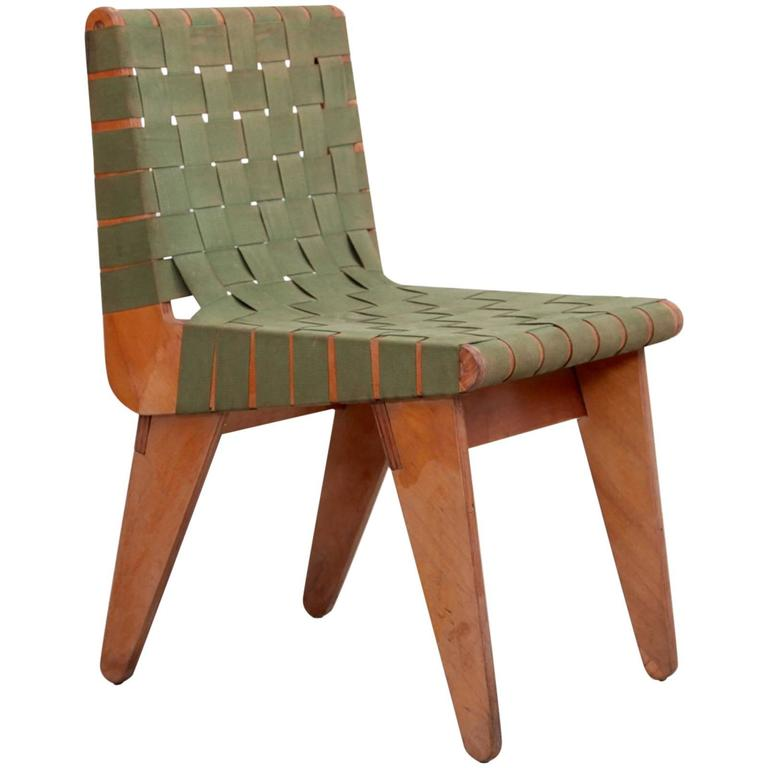 Original Green 1949 Klaus Grabe Plywood Chair For Sale