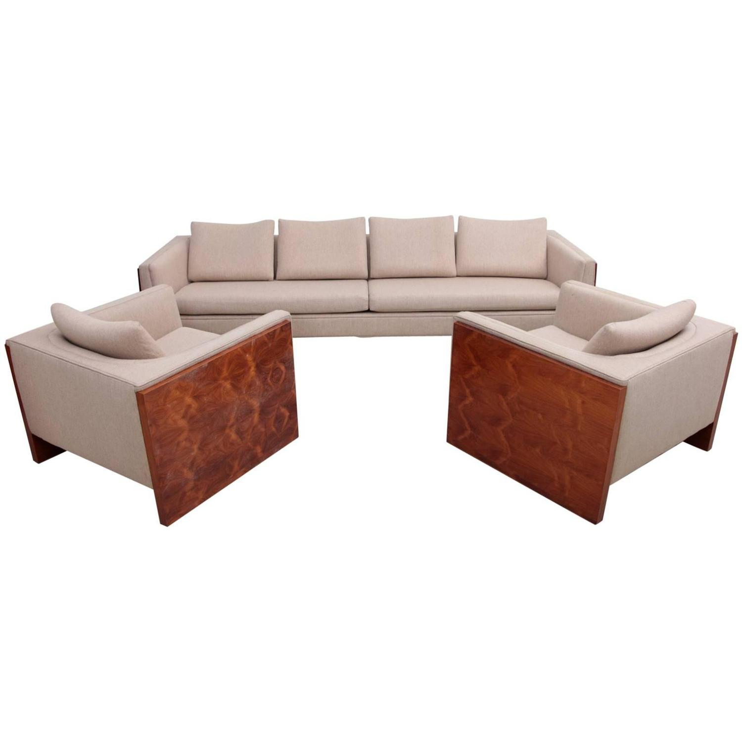 Milo Baughman Case Sofa Set For Sale At 1stdibs