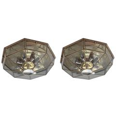 Two Amazing Belgian Vintage Ceiling Lights