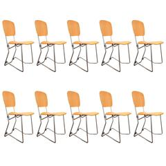 Set of Ten Armin Wirth Vintage Folding Chairs