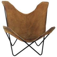 Brown Butterfly Chair by Jorge Ferrari-Hardoy Juan Kurchann Antonio Bonet, 1938