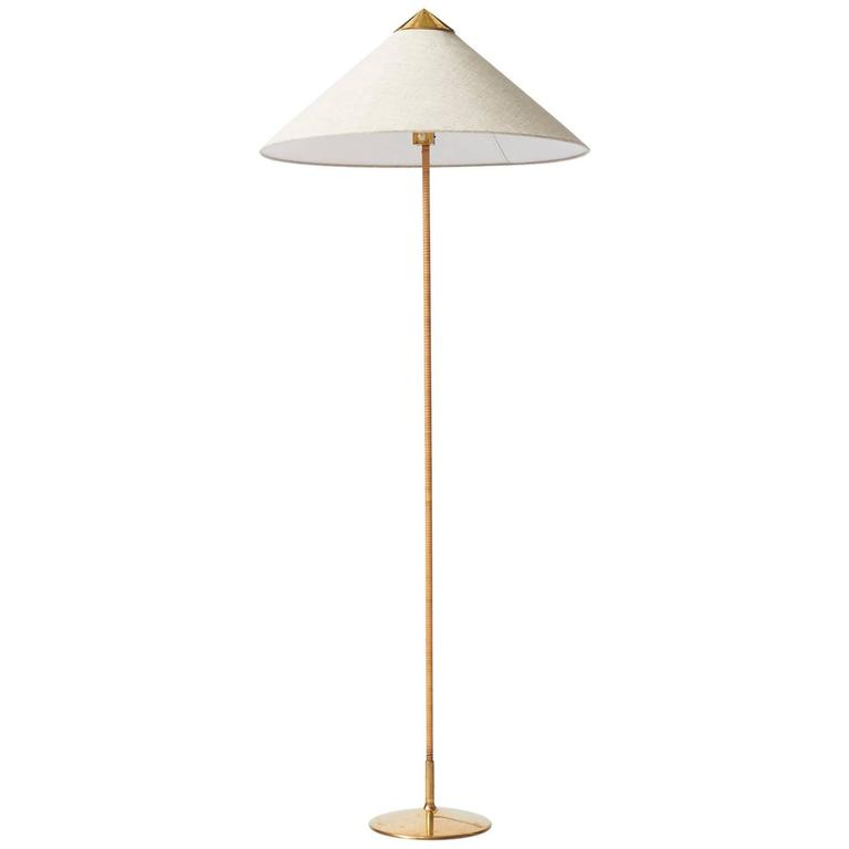 """Chinese Hat"" Floor Lamp by Paavo Tynell"