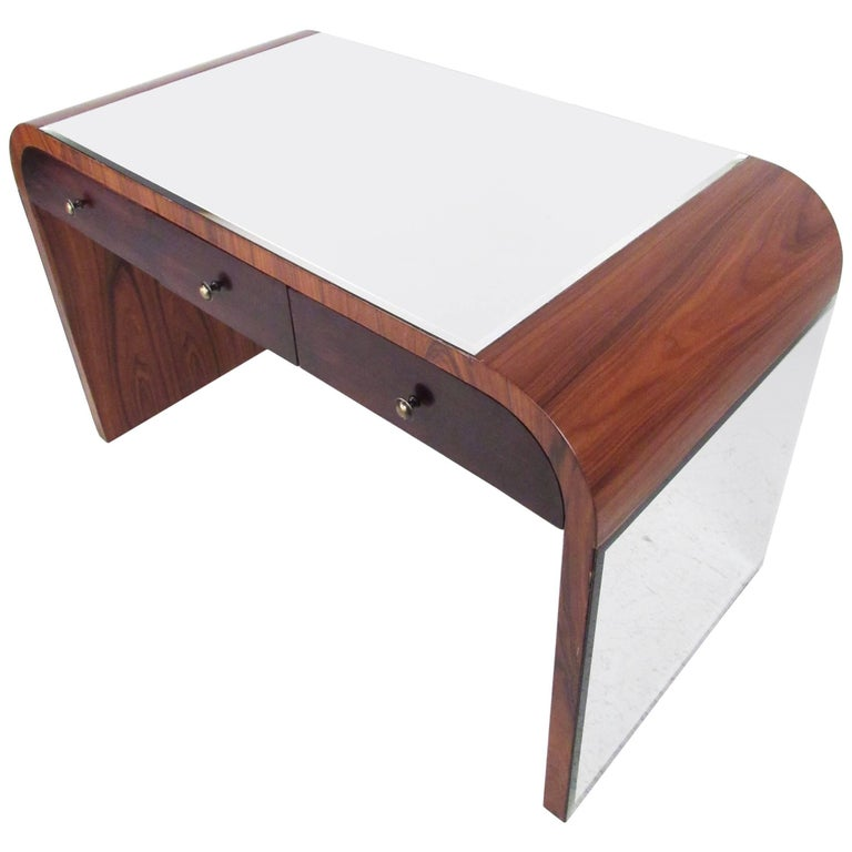 Italian Modern Writing Desk in Rosewood For Sale
