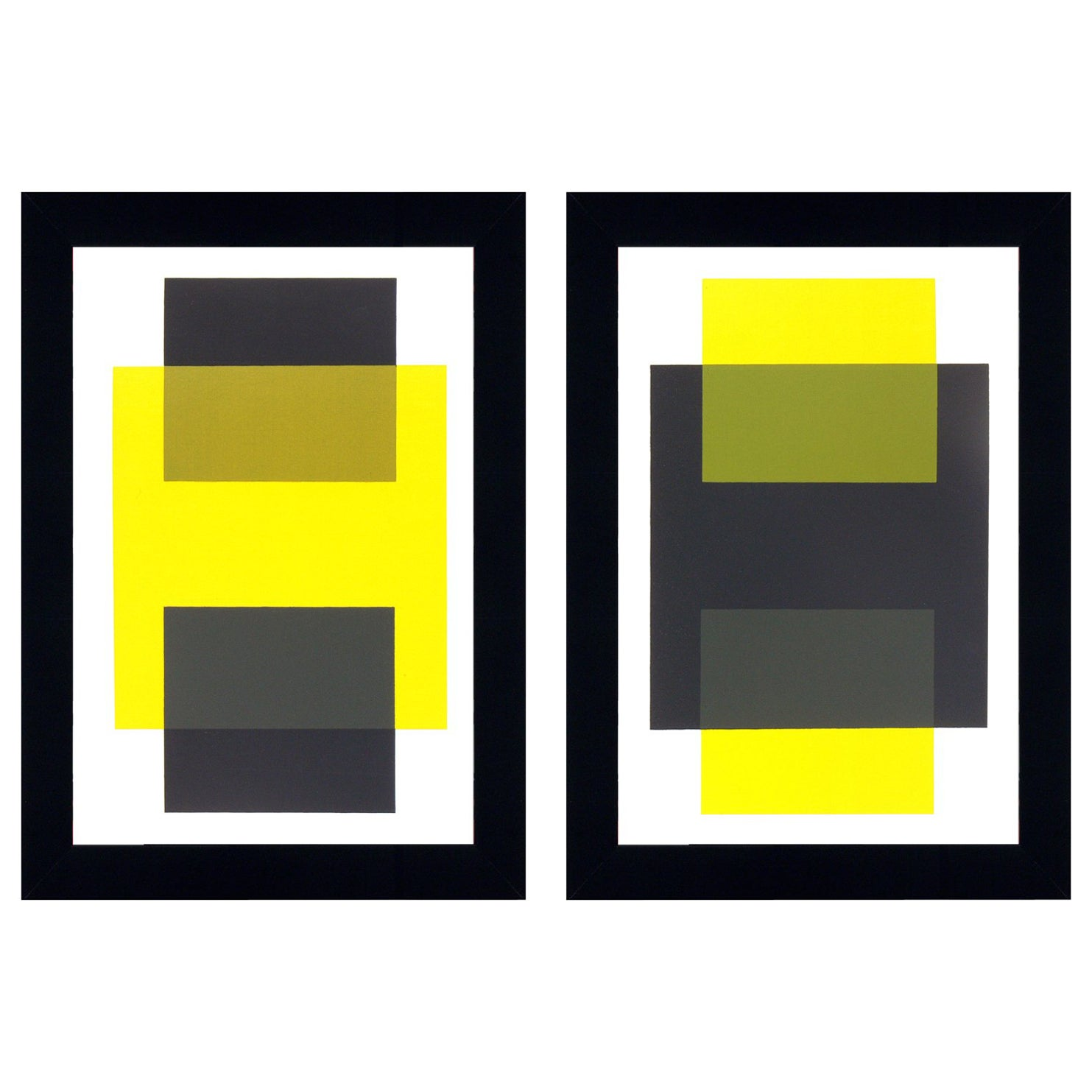 Josef Albers Abstract Lithographs from Interaction of Color