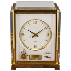 Gold-Plated Marina Atmos Clock by Jaeger Le Coultre