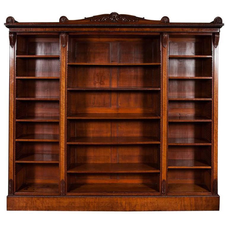 George IV Mahogany Open Bookcase