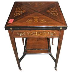 19th-20th Century English Game or Envelope Table