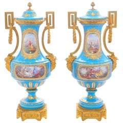 Pair of 19th Century 'Sevres' Classical Vases