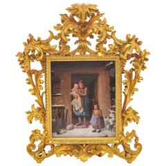 19th Century Austrian Porcelain Plaque
