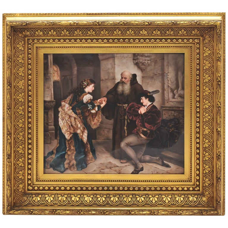 Large KPM Porcelain Plaque of 'Romeo and Juliet' 19th Century For Sale