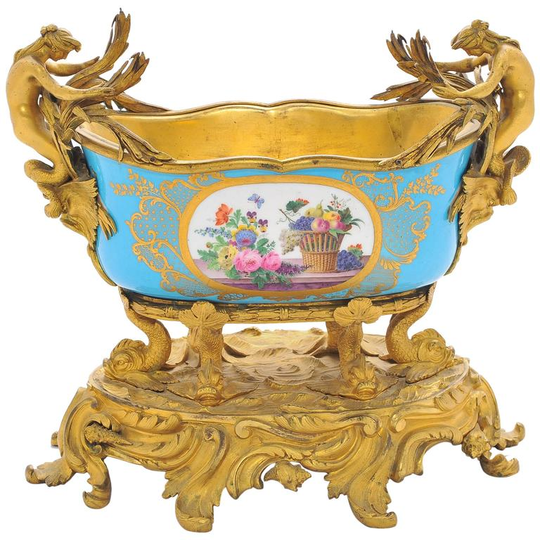 19th Century Sevres Jardiniere For Sale