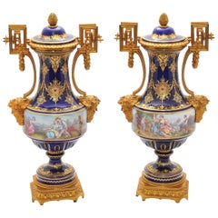 Pair of Antique Sèvres Vases