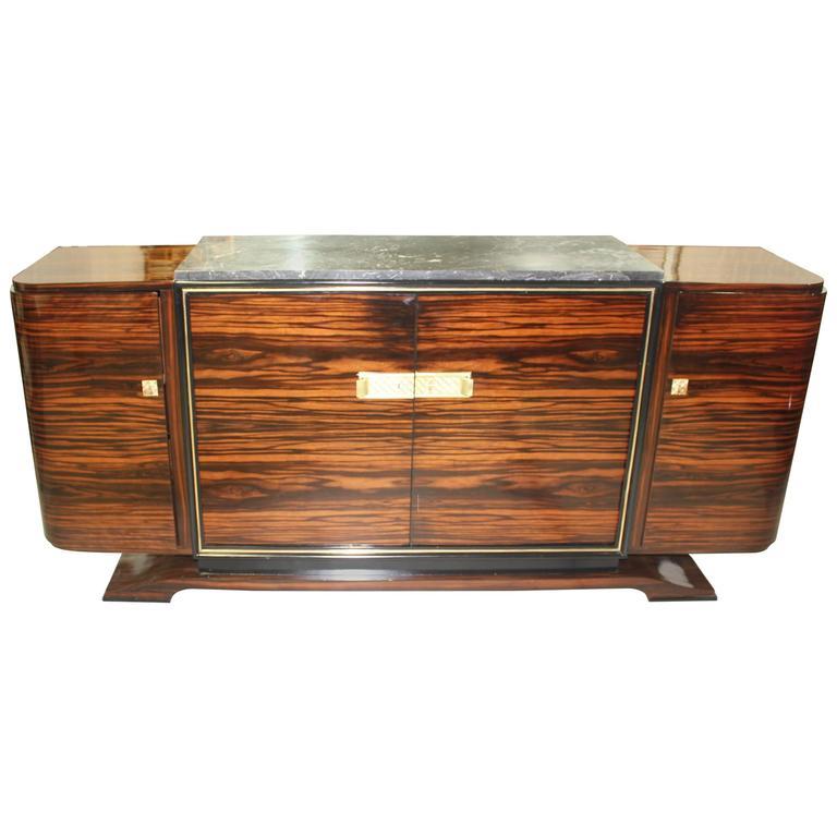 Masterpiece Art Deco Sideboard/Buffet Exotic Macassar Ebony By Maurice  Rinck. 1