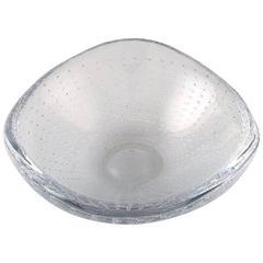 Signed Kosta Boda, Vicke Lindstrand Art Glass Bowl